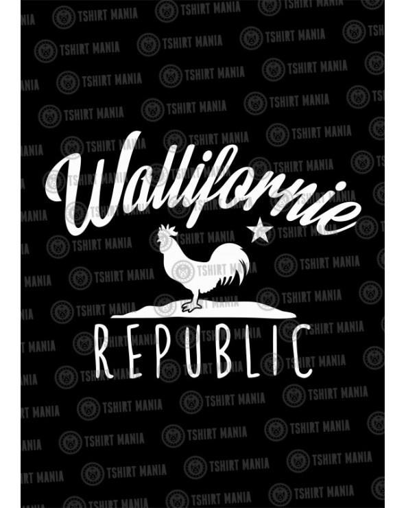 wallifornie-republic t-shirt
