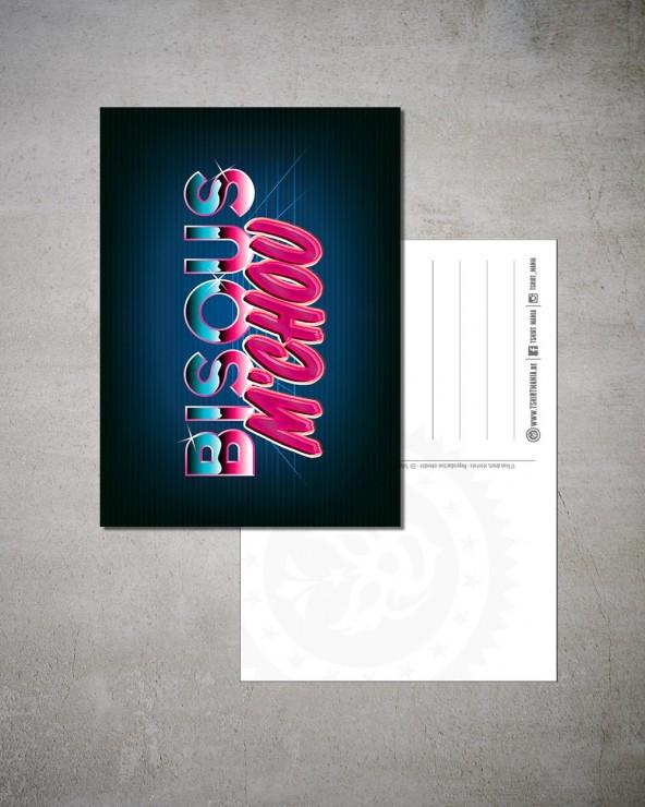 Carte postale Bisous m'chou