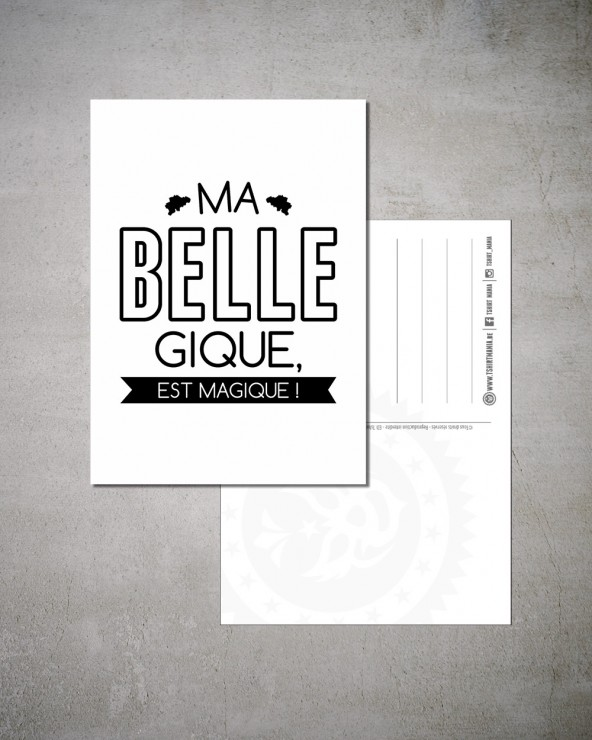 "Carte Postale ""Ma Belle Gique"""