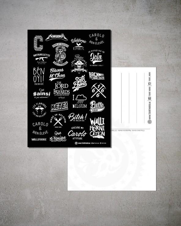 "Carte Postale ""Carolo/Wallon"""