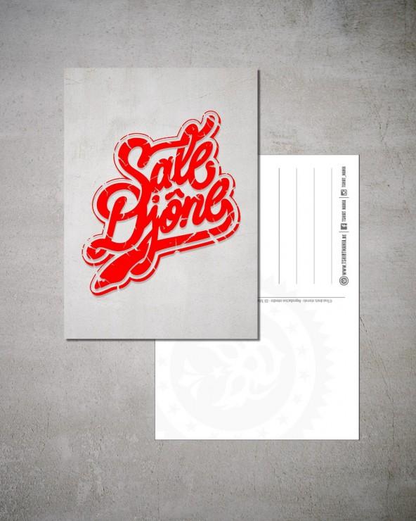 "Carte Postale ""Sale djone"""