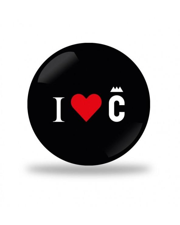 I Love C Badge