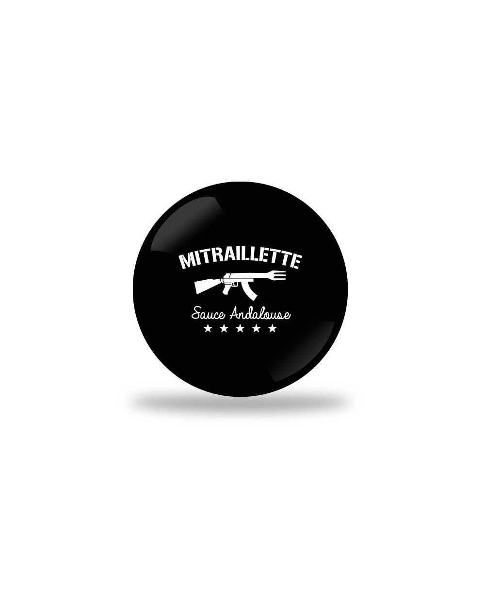 Mitraillette Badge